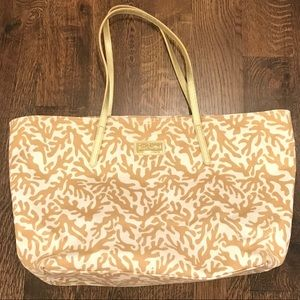 Gold Coral Shimmer Lilly Pulitzer Tote